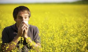 Аллергия у мужчины