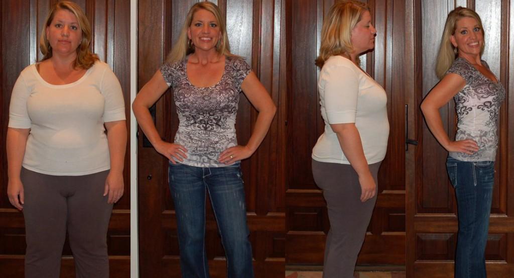 Похудение: результат в анфас и профиль