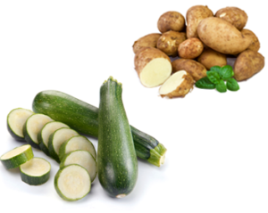 Картофель и кабачки