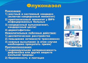 Применение препаратов с флуконазолом