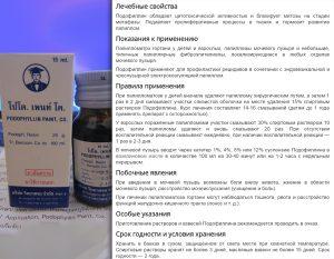 Инструкция к средству Подофиллин