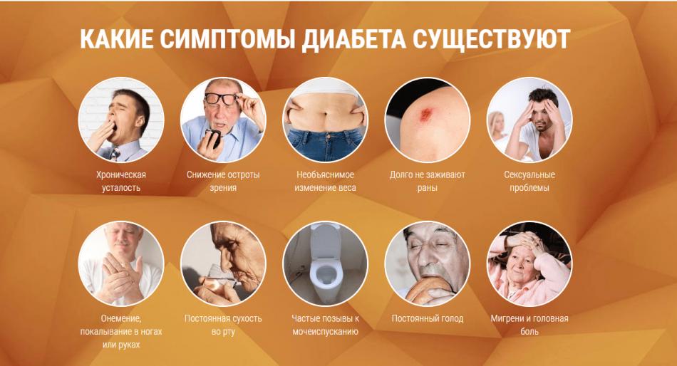 Симптоматика диабета