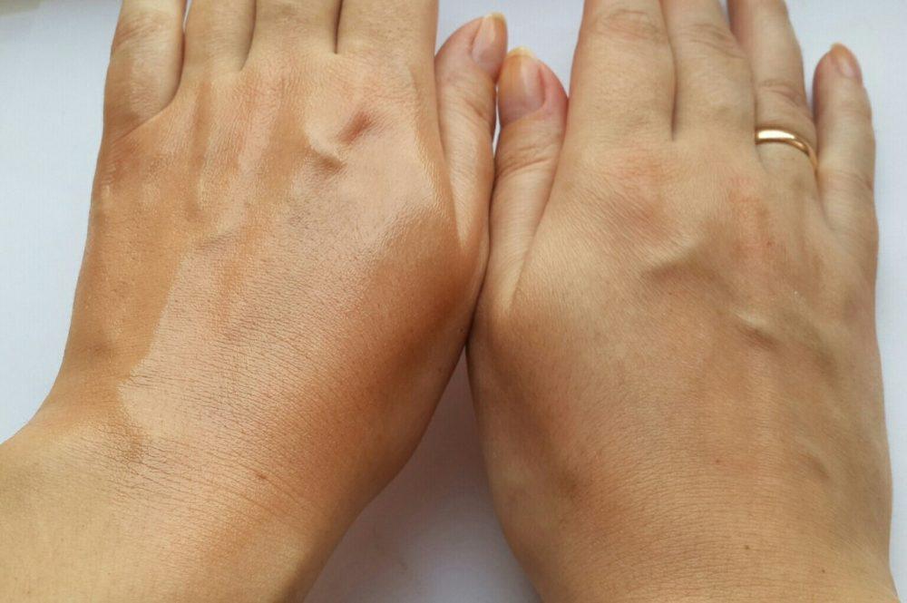 Результат использования тонального крема Dermacol