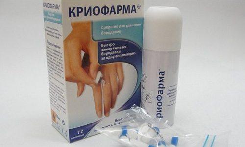 Средство Криофарма против папиллом