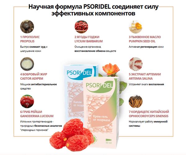 Ингредиенты комплекса Psoridel