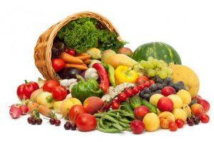 Включение в рацион овощей и фруктов