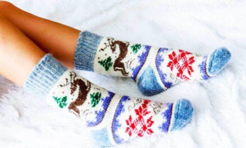Шерстяные носки для ног