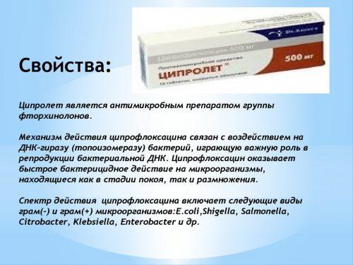 Лечебные свойства Ципролета