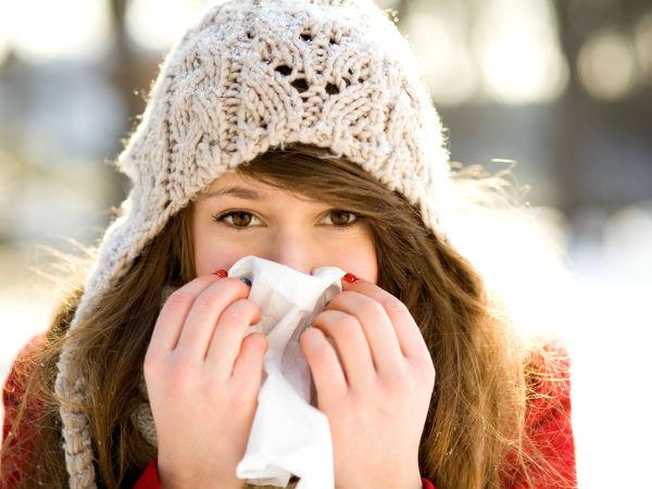 Девушка на холоде