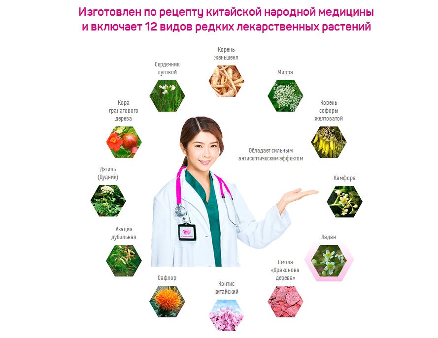 Состав лечебных фитотампонов для женщин